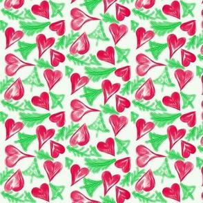 Crimson Hearts and Tiny Trees