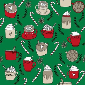 hot chocolate // christmas winter drinks cute christmas fabrics peppermint latte hot chocolates peppermints food drinks