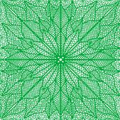 Poinsettia Lace Green Half Drop