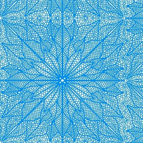 Poinsettia Lace Blue Half Drop