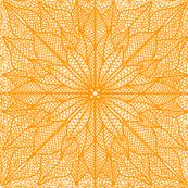 Poinsettia Lace Orange Half Drop