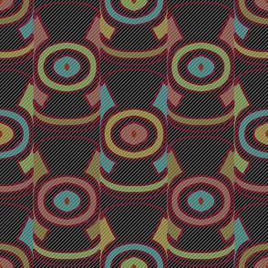 Dark Ikat (Stripes 2)