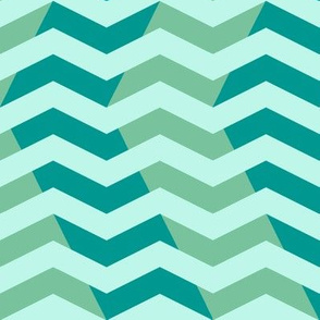 wavy chevron in surf teal