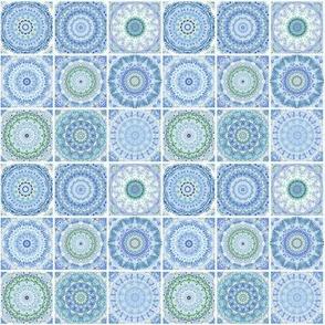 Tile in blue watercolor