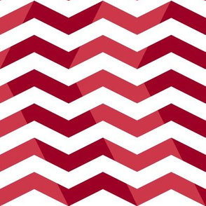 wavy chevron - candy cane red