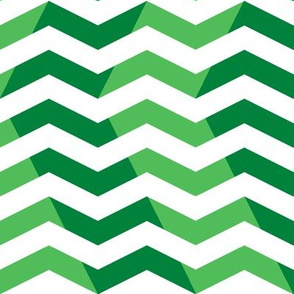 wavy chevron - candy cane green, large