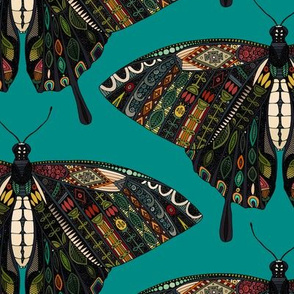 swallowtail butterfly teal