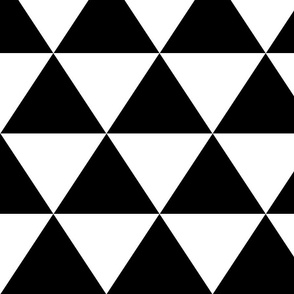 Black and White Alternating Triangles