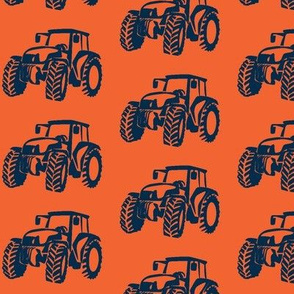 Tractors  Orange with Navy