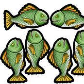 Green Cartoony Piranha