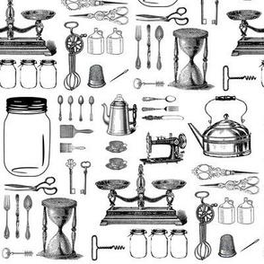 Vintage Kitchen Essentials Large