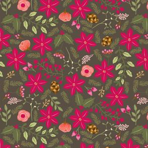 Poinsettia_flower_fond_gris_L
