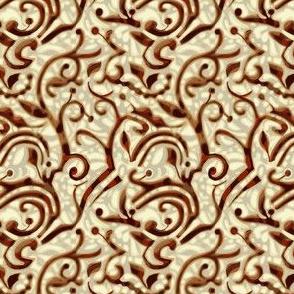 Chestnut brown and beige