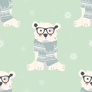 Bear Christmas pattern 003