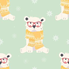 Bear Christmas pattern 004