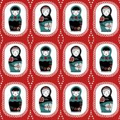 matryoshka dolls // red