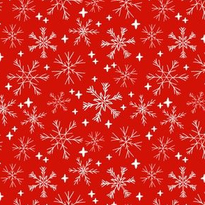 winter snowflakes // red fabric cute christmas winter design best winter fabrics cute christmas fabric by andrea lauren