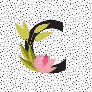 Garden Letters - Letter C