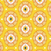 Floral Cameo Yellow & Orange