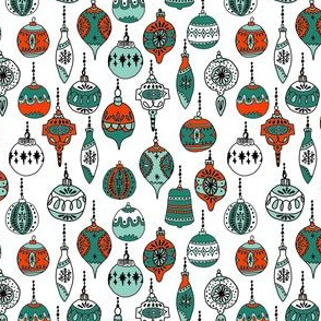 christmas ornaments // christmas ornament holiday xmas red and green holiday xmas fabric