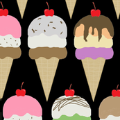 ice cream  black interlock lg