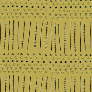 Mudcloth Stripes Ochre
