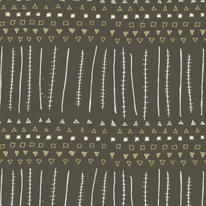 Mudcloth Stripes Rich Earth