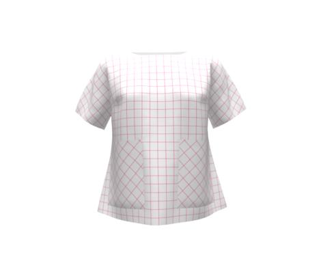 diagonal grid 1x1 - pink