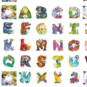 Amazing Animal Alphabet with no guides
