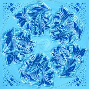 Floral-05 Dress Blue B-01