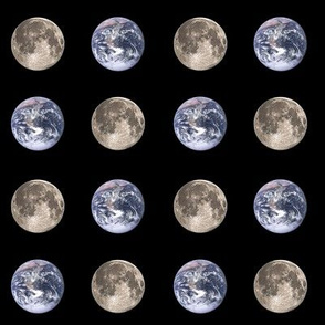 "1.5"" Earth and Moon polkadot"