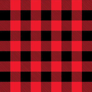 Buffalo Check in Red and Black-ch