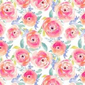 Wild Pink Watercolor Ranunculus