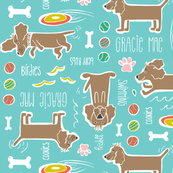 Dog Days Pet Pattern Custom Name Gracie Mae