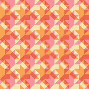 quilters houndstooth in dotpink