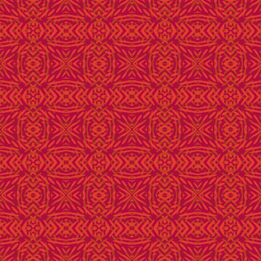 Red Geometric Tribal Texture