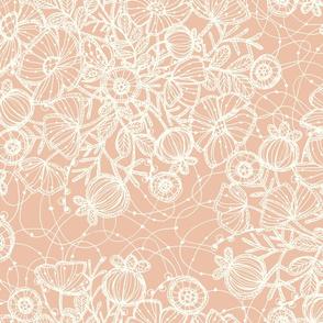 Wildflowers in Lace, Rose + Cream - ©Lucinda Wei