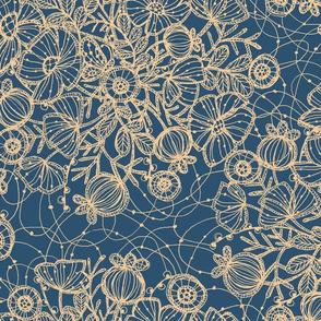 Wildflowers in Lace, Dusty Blue + Sand - ©Lucinda Wei