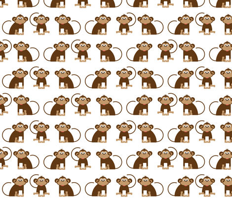 Monkeys cheeky monkey kids design jungle animals for Nursery monkey fabric