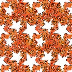 Project 96 | Stars on Sunset Orange Watercolor