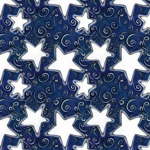 Project 96 | Stars on Dark Midnight Blue
