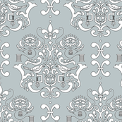 Stitcher's Damask in Gray