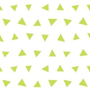 lime green triangles, triangle, triangle fabrics baby nursery design coordinating fabric