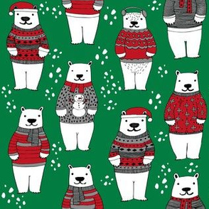 christmas polar bears // bears in sweaters, christmas polar bear cute christmas winter polar bears