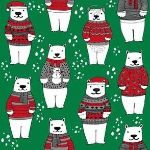 christmas polar bears // bears in sweaters, christmas polar bear cute christmas winter polar bears