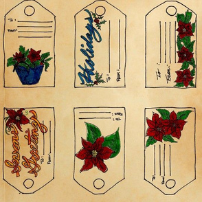 Poinettia Gift Tags