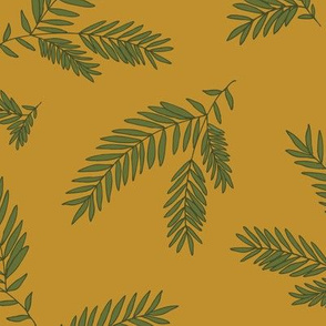 Pine Sprig - Dark Caramel & Ivy