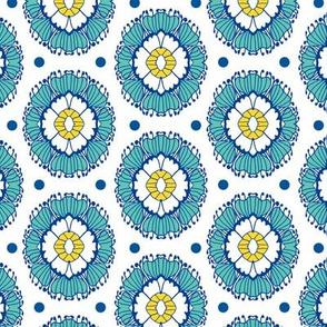 Floral Cameo Blue