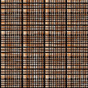 Impulsive Plaid ~ Black on Spiced Pumpkin Linen Luxe