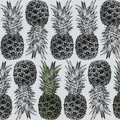 Pineapples on Grey - There's Always One